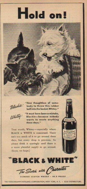 Vintage B & W Scotch ad