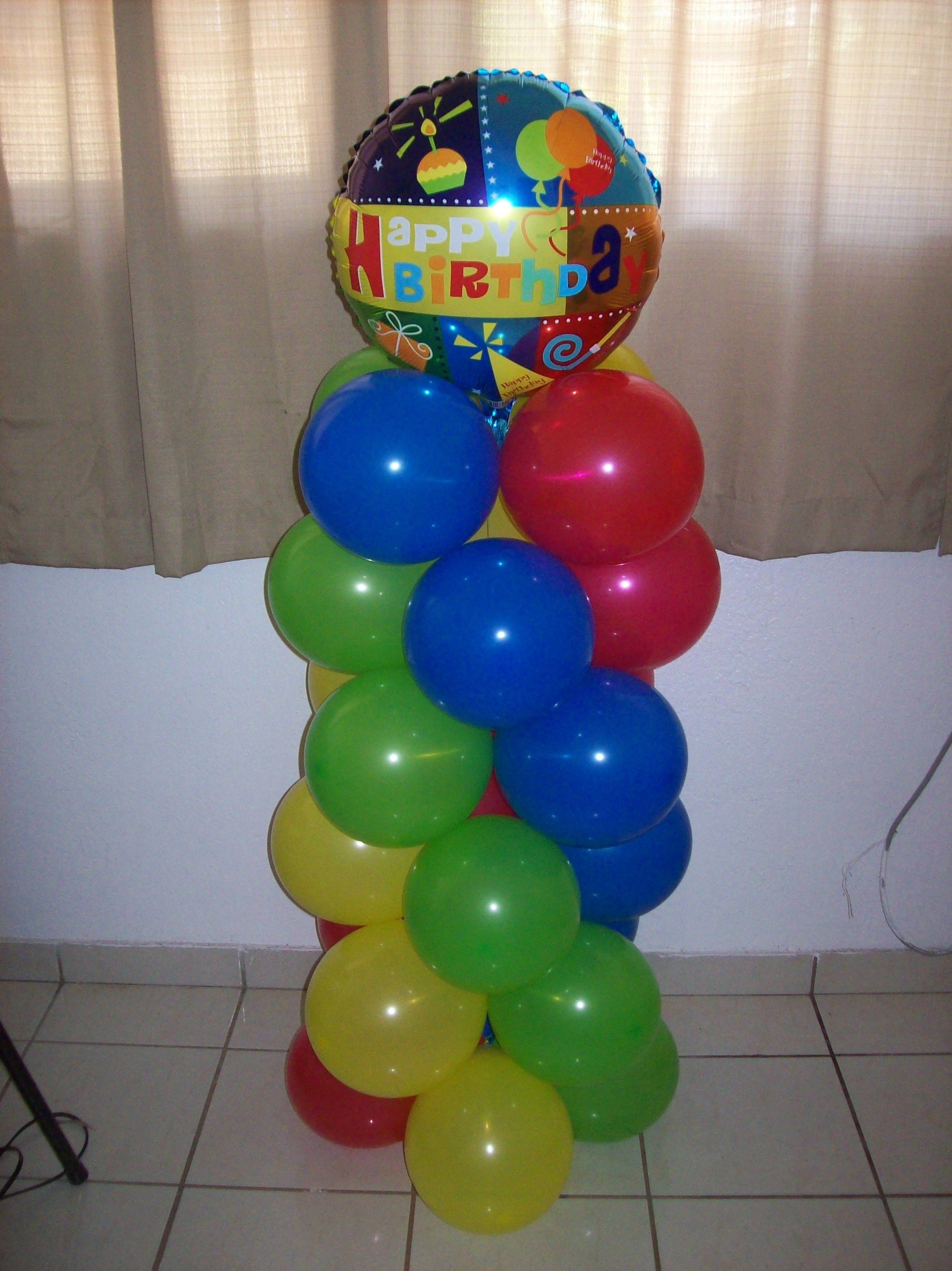 No helium balloon column birthday balloon figures for Balloon arch no helium