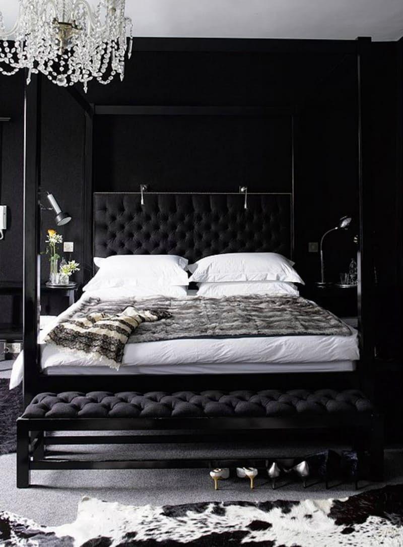 black bedroom design bedroom inspiration ideas master bedroom Mystery u0026 Charm with 10 Black