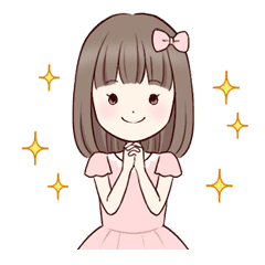 It is sticker of a little girl and teddy bear  | Anime in