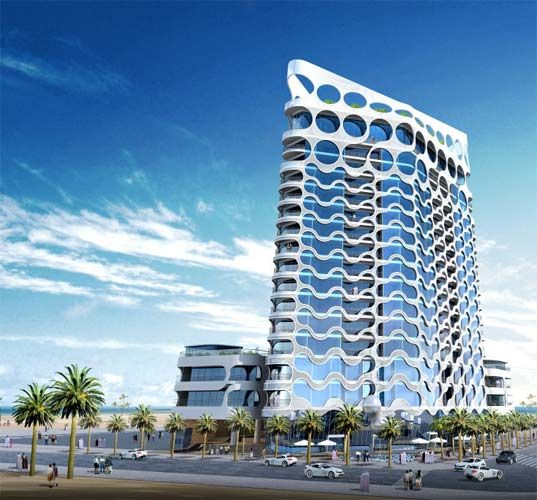 High Tech Cybertechture For Dubai Waterfront Dubai Waterfront Concept Architecture Glass Building