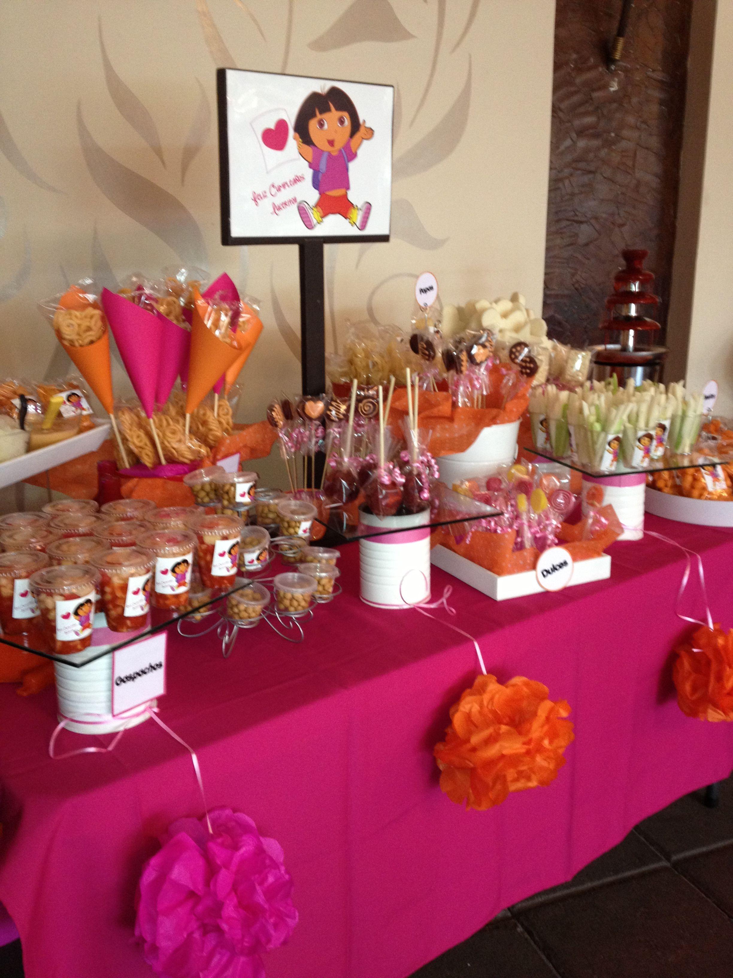 Dora The Explorer Candy Table Graduation Party Decor Second Birthday Ideas 1st Birthday Parties