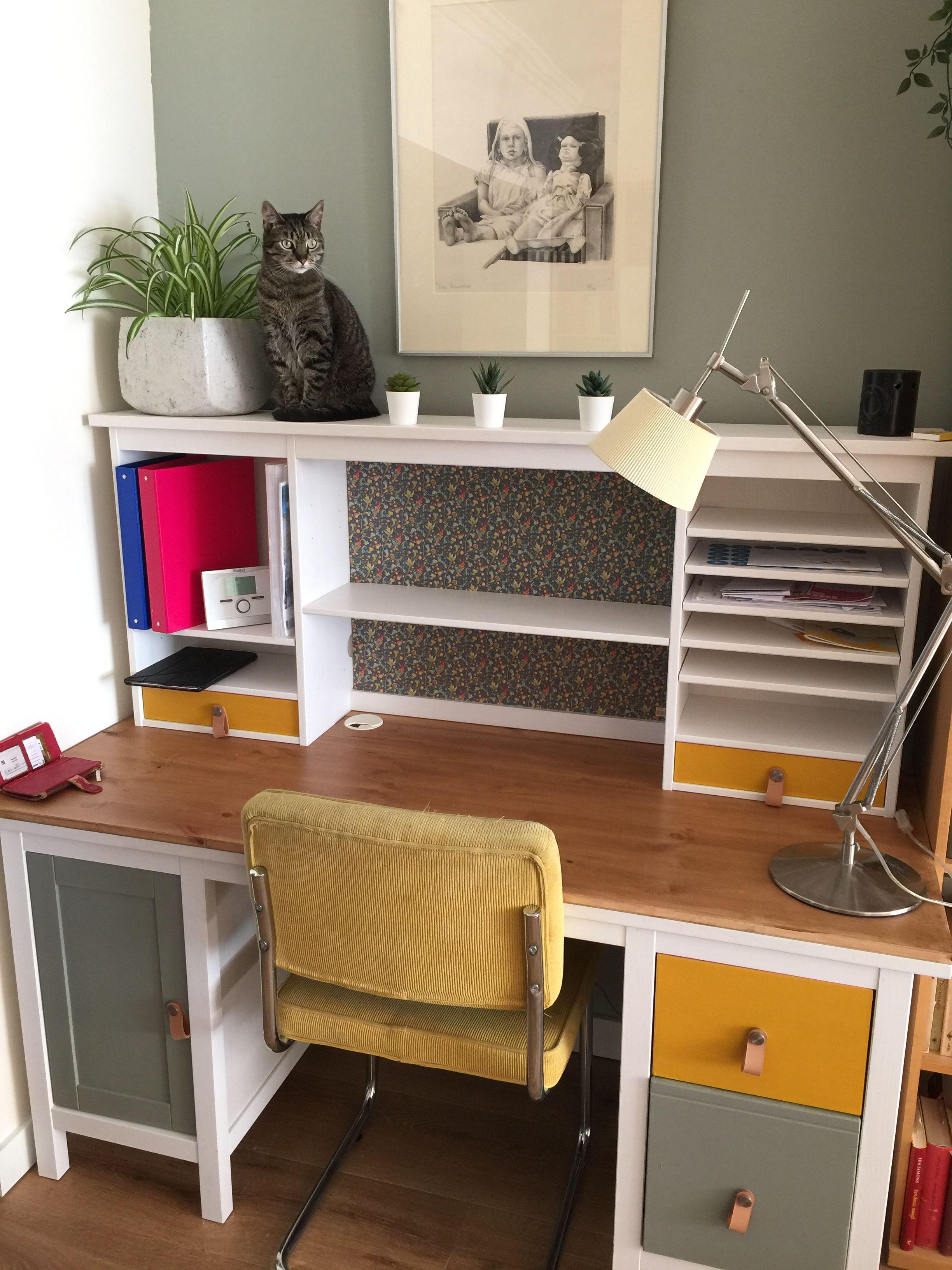 Ikea Hack Hemnes Bureau In 2020 Ikea Hemnes Desk Home Desk Bureau Ikea