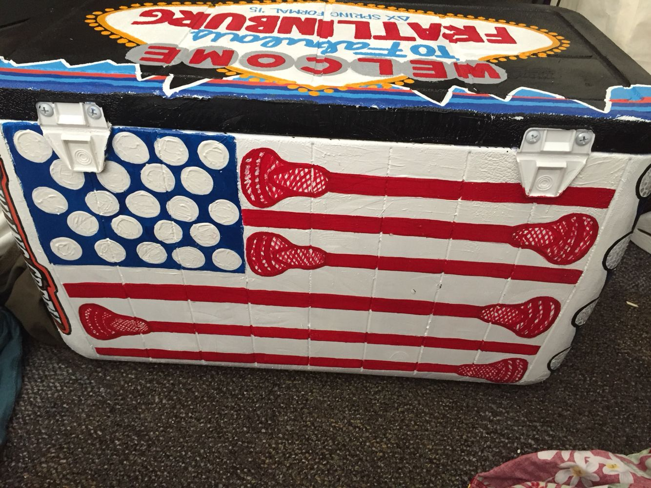Diy Painted Cooler : Fraternity painted cooler diy craft delta chi