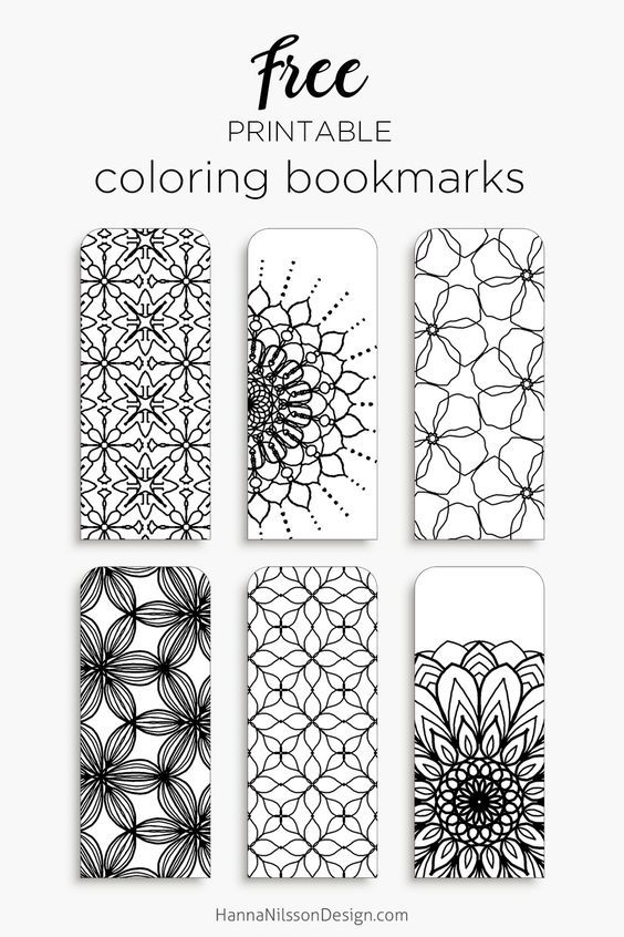 Coloring bookmarks