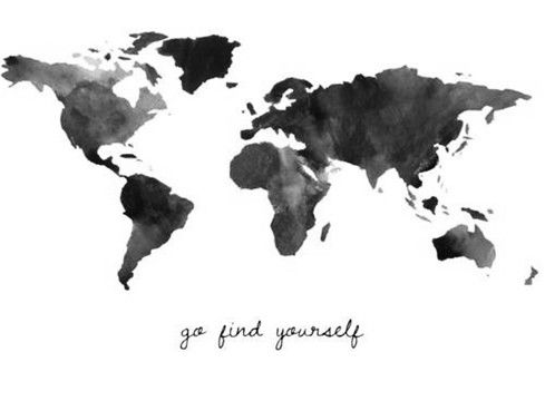 Go find yourself travel art pinterest on wisdom and highly go find yourself worldmapwatercolorsi gumiabroncs Gallery