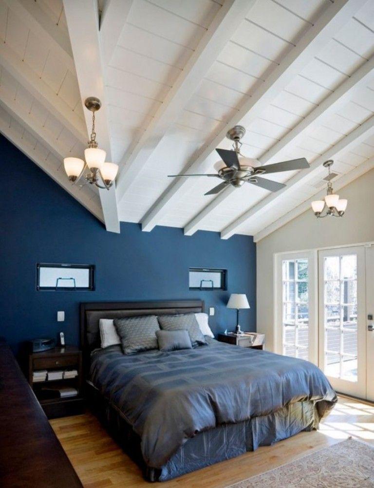 12 idées pour une décoration de chambre en bleu marine | Navy blue ...