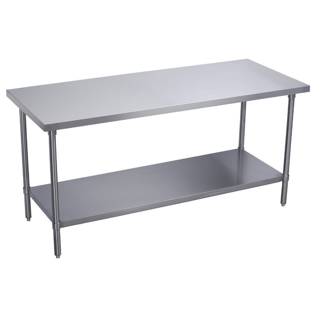 Kitchen Commercial Flat Top Work Table With Stainless Steel Top - Stainless steel table with storage