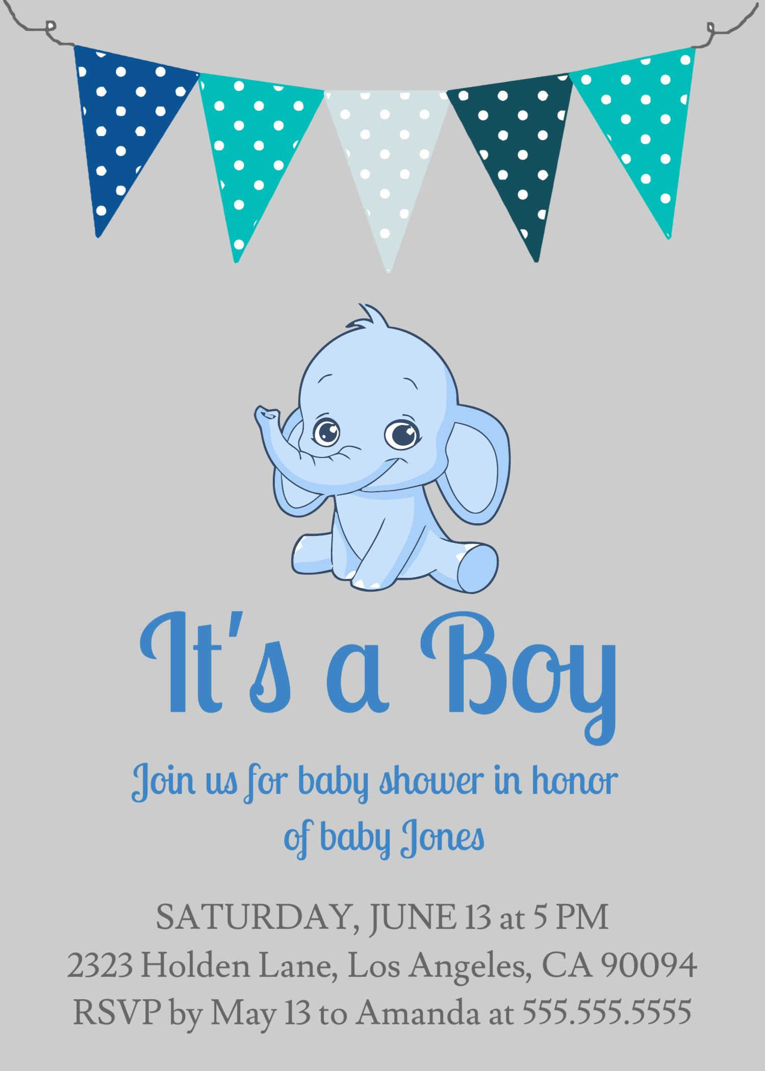 Bowtie Baby Shower Editable Bow It S A Boy Party Invitation Invite