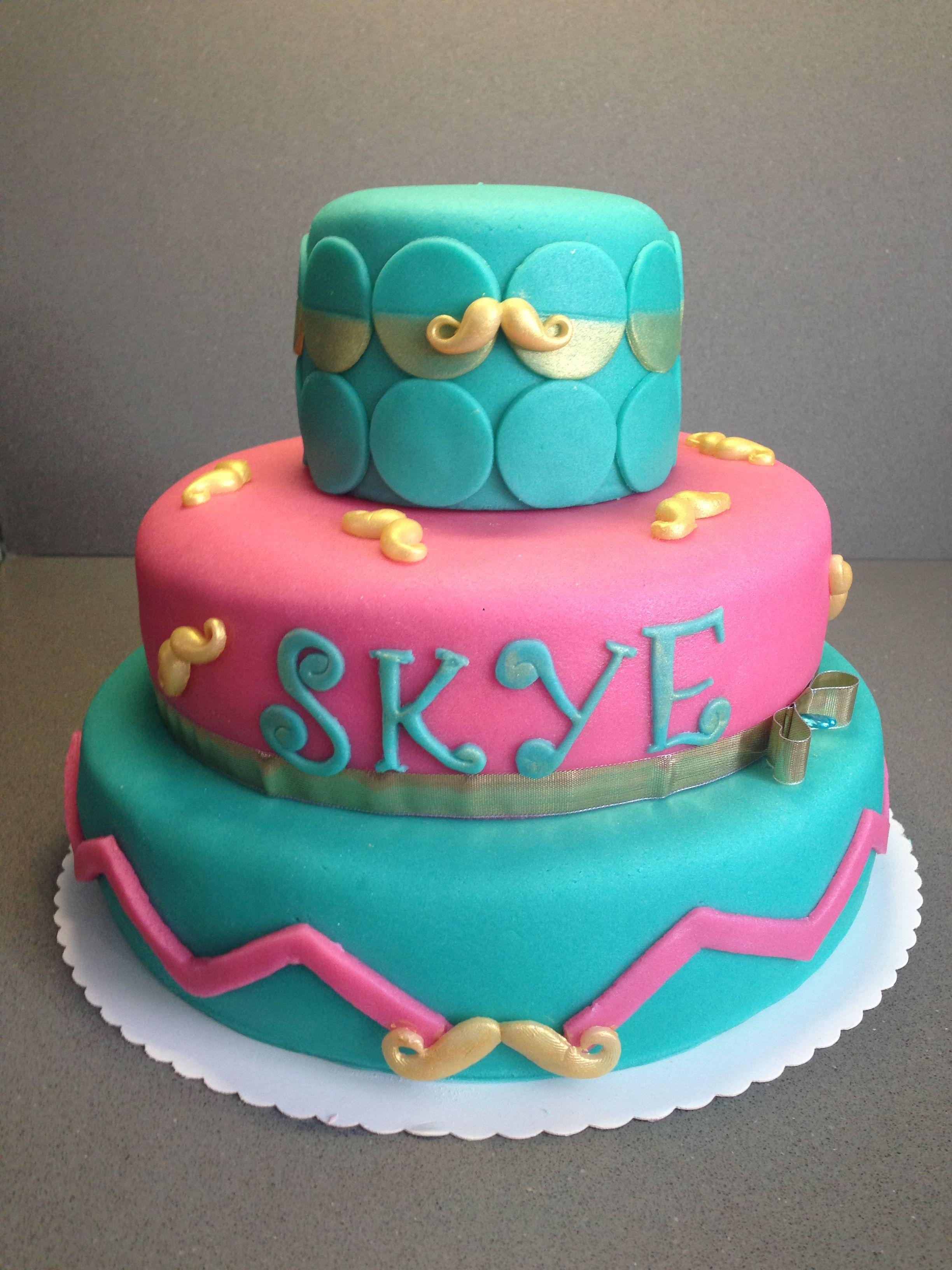 Pink/mint birthday cake - Torte per tutti