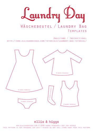 Wäschebeutel / Laundry Bag Tutorial | Applikációk | Pinterest ...