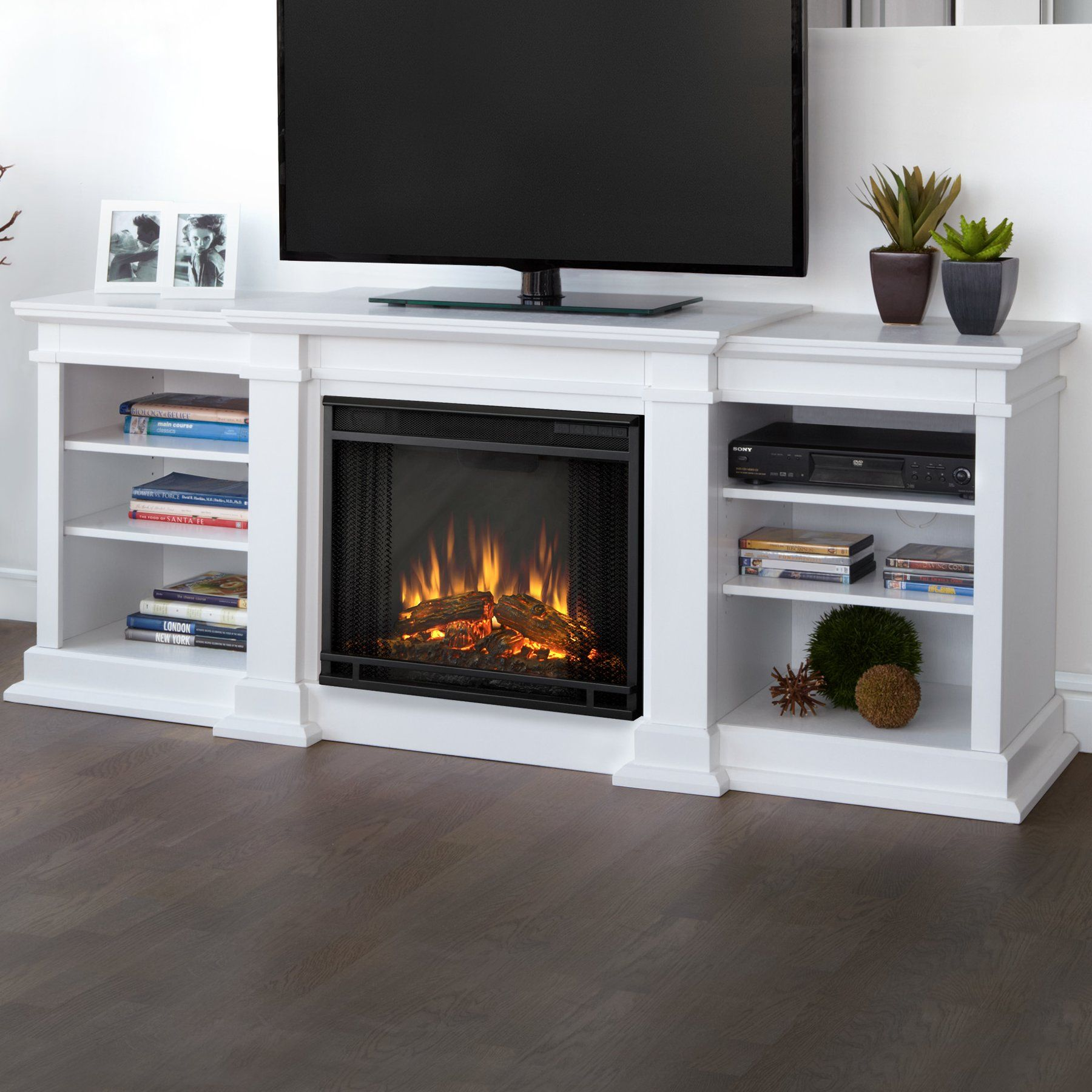 wayfair fireplace tv stand Real Flame Fresno TV Stand with Electric Fireplace Reviews  wayfair fireplace tv stand