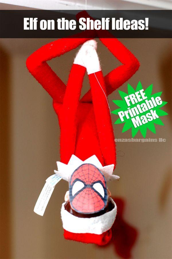Elf on the Shelf Spider Man Mask: FREE Printable Mask | HOLIDAY: Elf ...