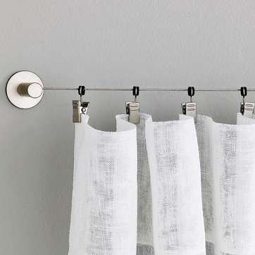 Drapery Hanging Ideas Google Search Curtain Wire Diy Curtains