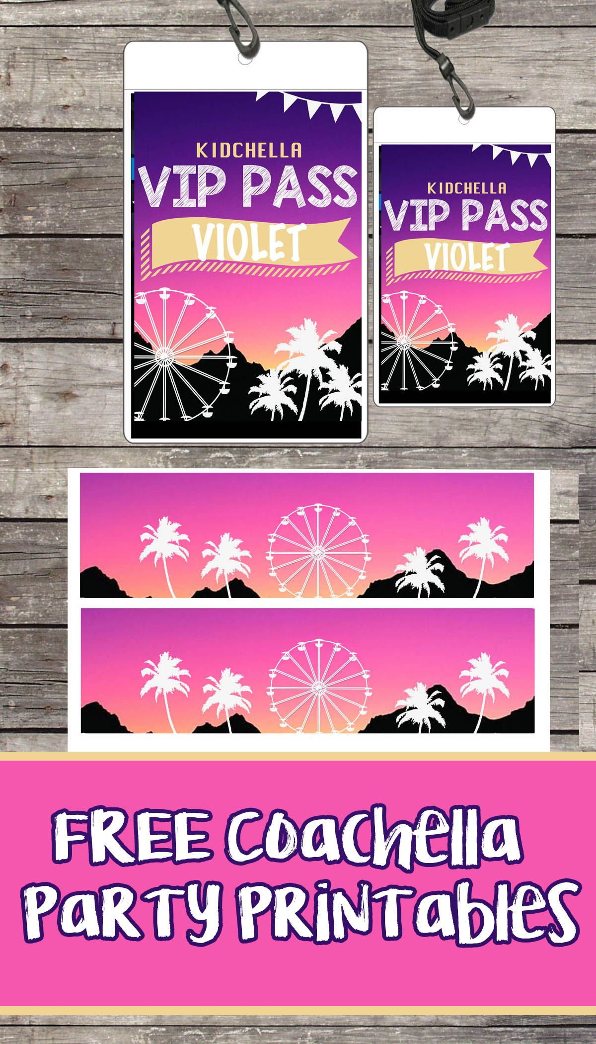 photograph about Free Printable Vip Pass Template identify No cost Coaca Birthday Occasion Printable Documents Banner VIP