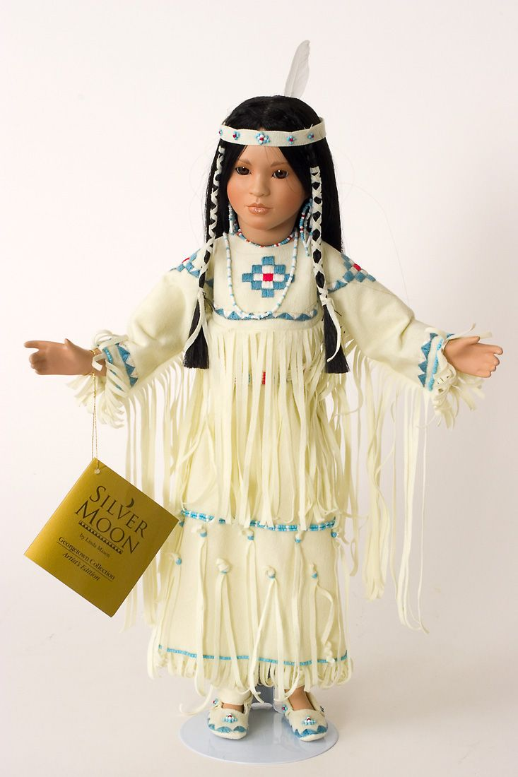 Silver Moon American Indian Princess Collectible Doll #indianbeddoll