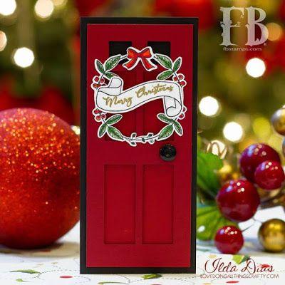Fleurette Bloom: Christmas Door Card - PixScan/Scanner Silhouette Tutorial