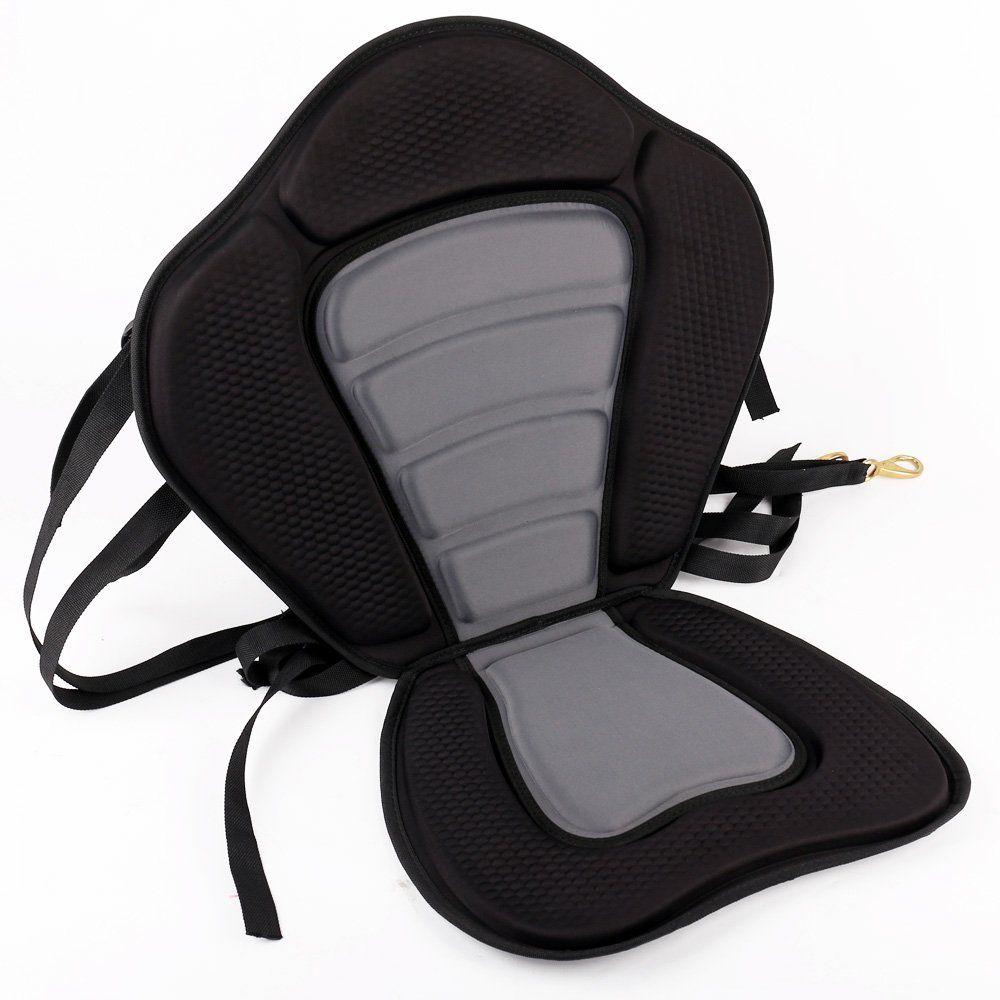 Deluxe Comfortable Kayak Paddling Seat Pad Black Adhesive Kayak Seat Pad