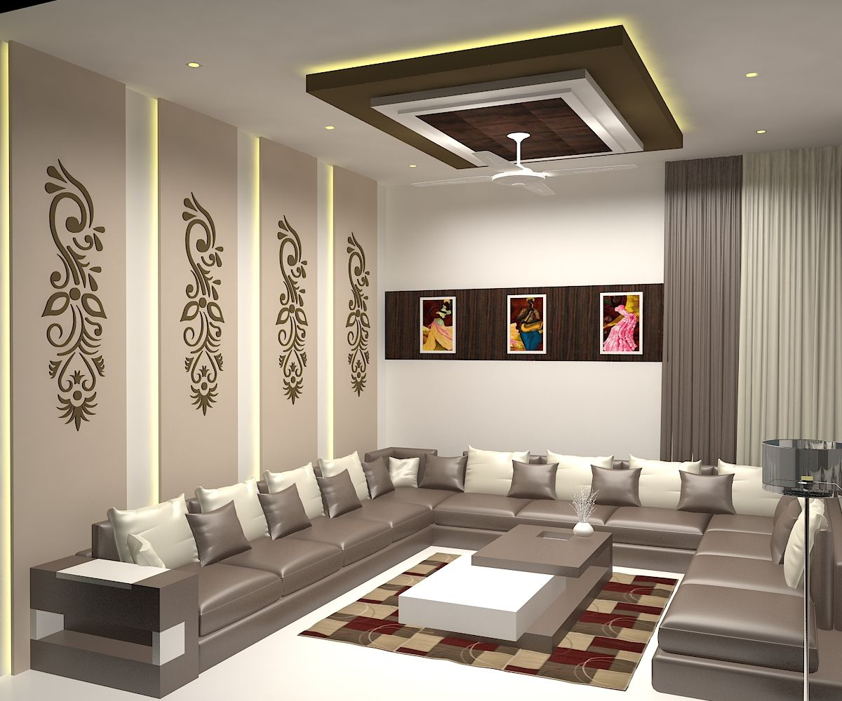 Drawing Room Interior......... | Ceiling design living room ...