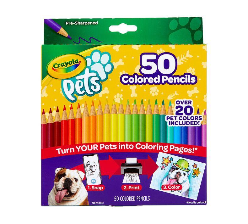 Crayola Pets 50 Colored Pencils Pet Coloring Pages Crayola Com