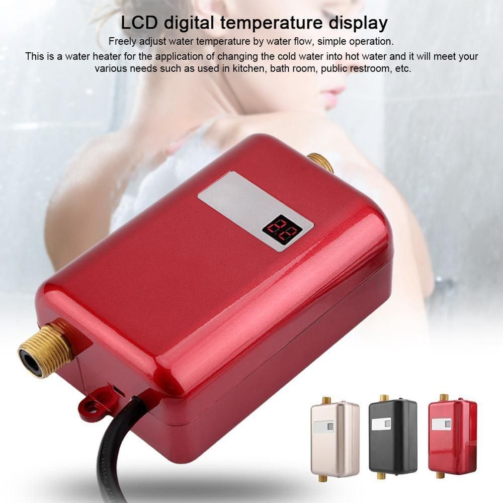 110v Mini Instant Electric Tankless Hot Water Heater Shower Kitchen Bathroom Unbranded Water Heater Hot Water Heater