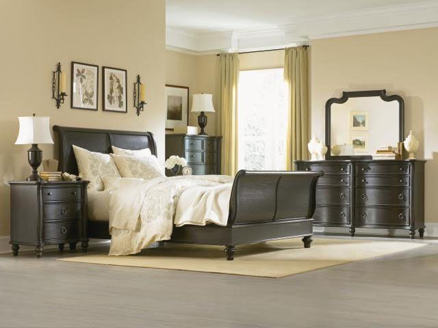 Lovely Legacy Classic Glen Cove Espresso 1521 Sleigh Bedroom Set