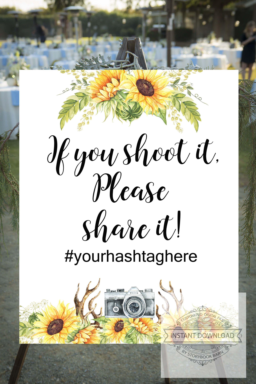 Fall Wedding, Social Media Sign, hashtag sign, wedding