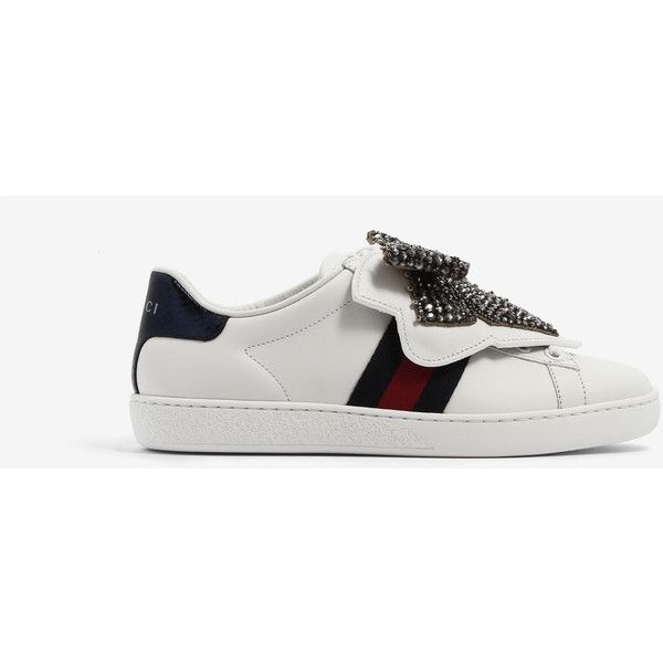 53e08008ac1 Gucci Gucci Ace Sneakers (€730) ❤ liked on Polyvore featuring shoes ...