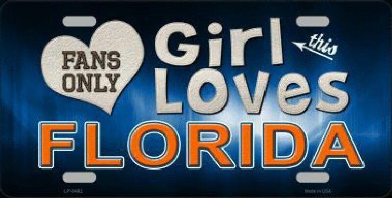 This Girl Loves Florida License Plate Tag FloridaGators