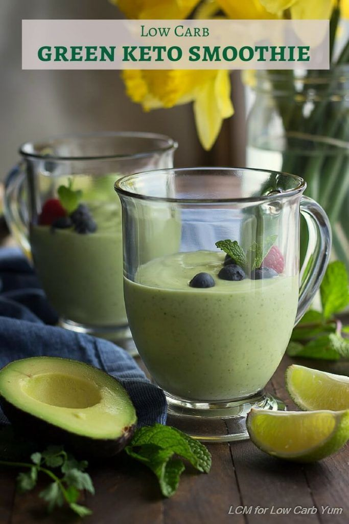 Green keto smoothie recipe | Keto | Pinterest