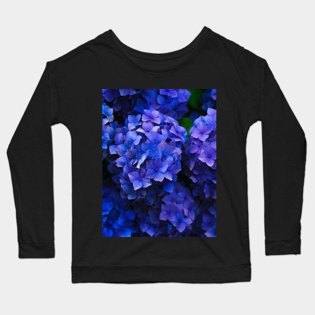 e5acc40b5ad8 Blue Hydrangea Flowers - Hydrangeas - Long Sleeve T-Shirt ...