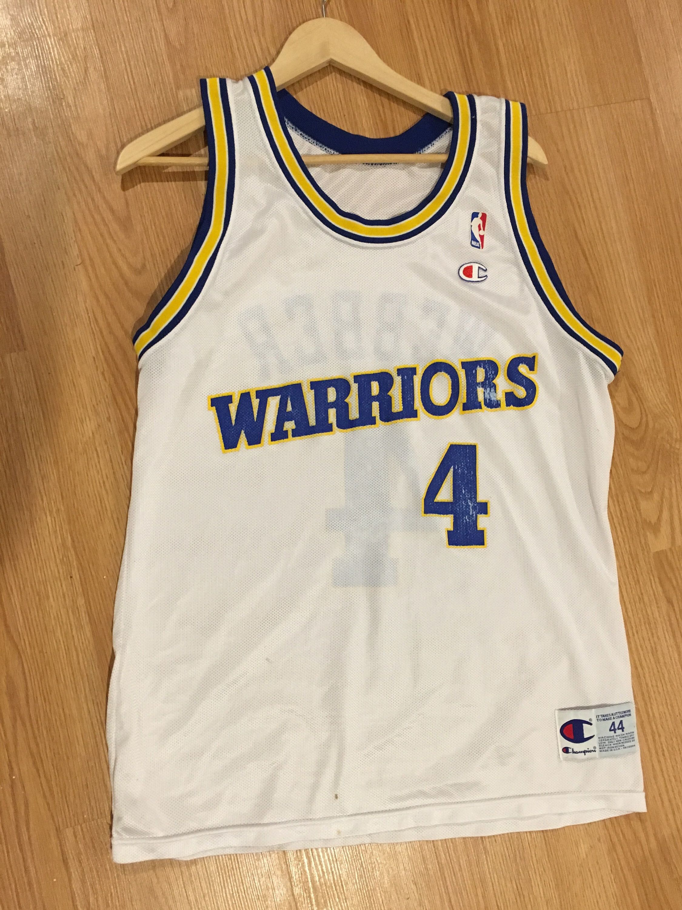 Vintage Warriors Jersey - Chris Webber - White - made by Champion by  ThrowbacksAllDay on Etsy f29664e2b