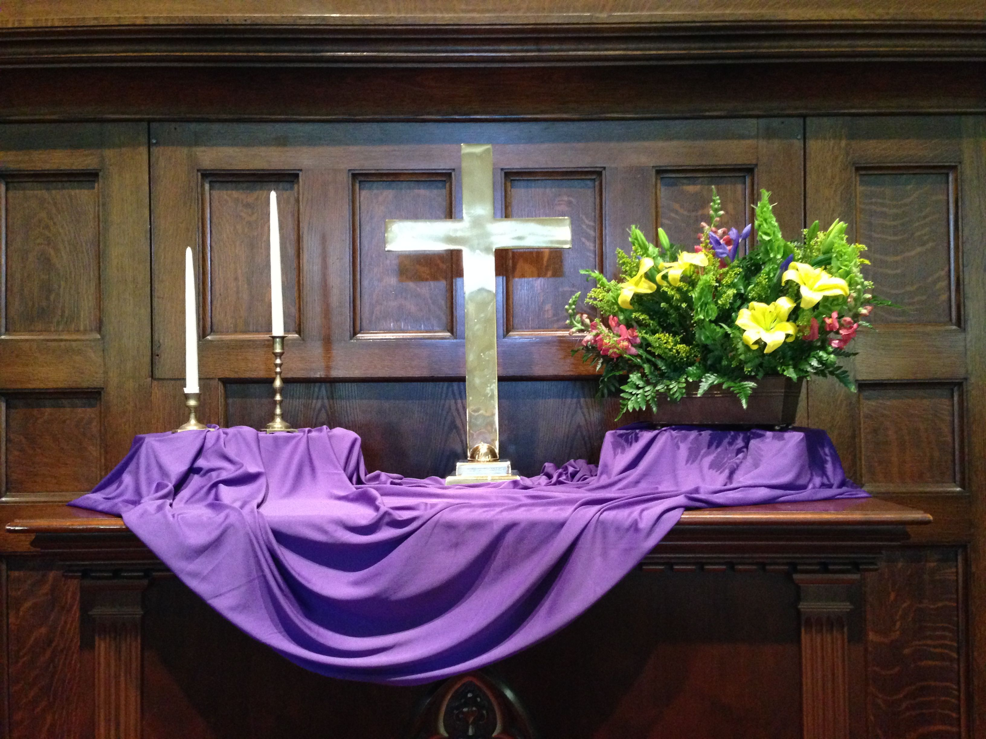 The tale of four lenten altarscapes preaching in pumps for Altar decoration ideas