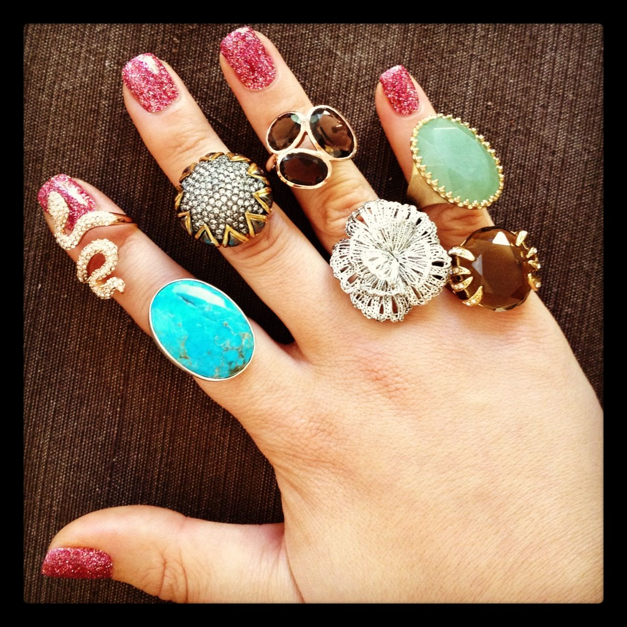 Pink Glitter Rockstar Nails And Ring Festival Http Www Stelladot Com Ts Er8m5 Stella And Dot Nail Ring Retro Accessories
