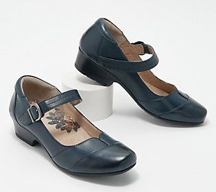 Days on your feet? Pros in the know pair these made-to-walk Mary Janes with a pencil skirt, tweed trousers, or a midi dress. From Taos.