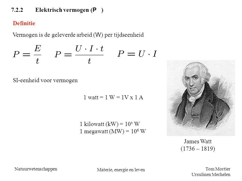 Definitie Van Vermogen Formule Berekening W Watt Elektrisch Vermogen Arbeid Elektriciteit