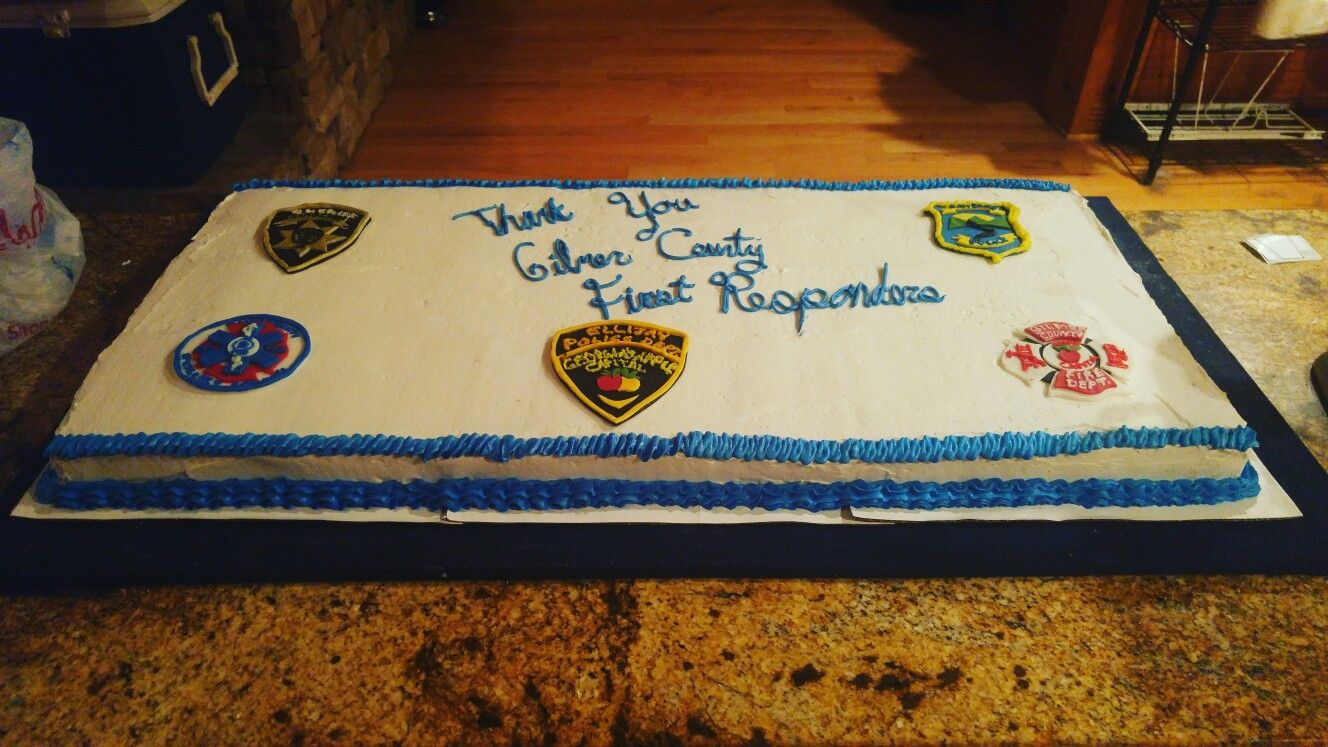 First responders cake