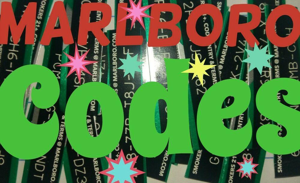 Marlboro Reward Digital Codes Lot Of 10/1000 Pts  Gifts