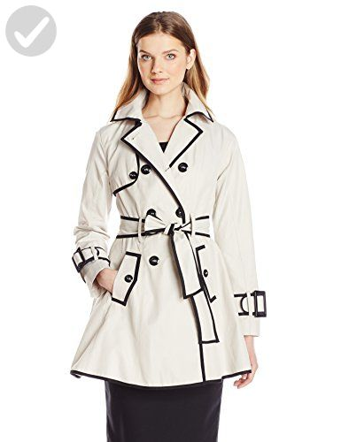 Betsey johnson black belted single breasted trench coat