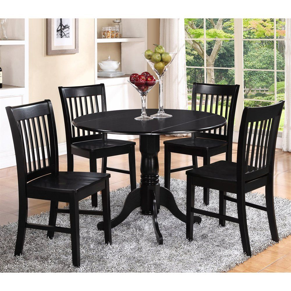 Shop East West Furniture DLNO Dublin Round Dining Set with ...