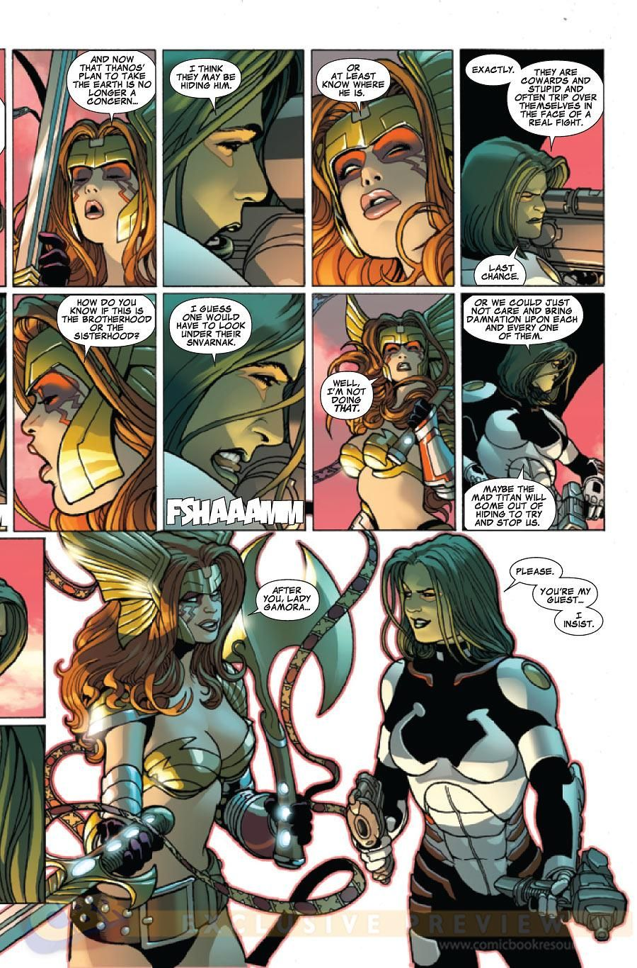 COMICS: 'Angela' And 'Gamora' Head Into Battle In GUARDIANS OF THE GALAXY #10 Preview