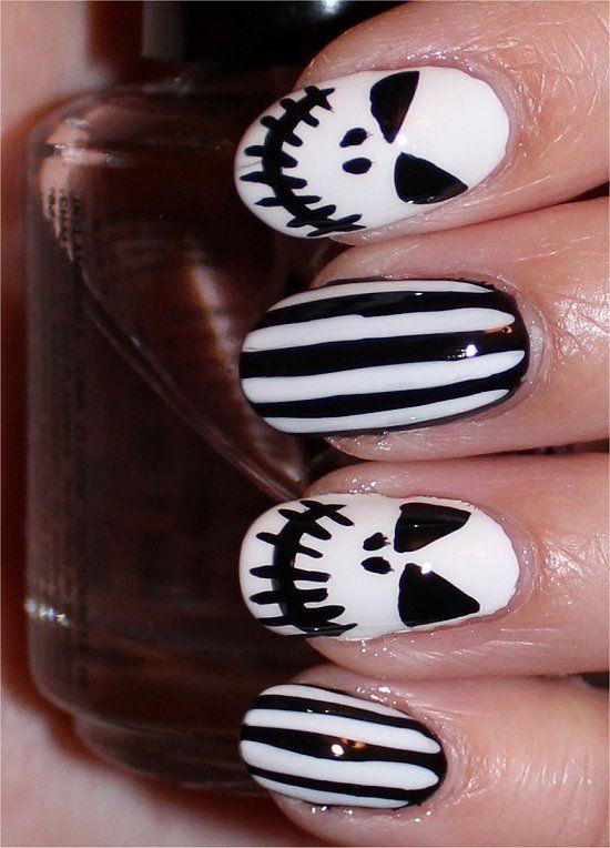Famous Jack Skellington Acrylic Nails Adornment - Nail Paint Design ...