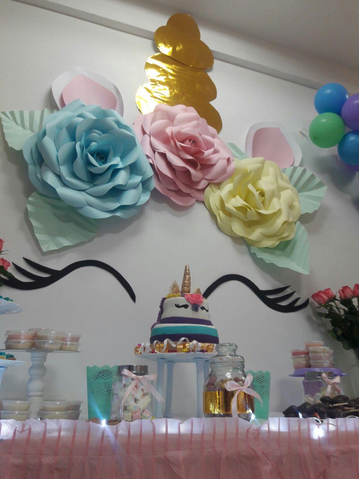 Unicorn party unicornio fiesta decoracion globos - Cuadros para bares ...