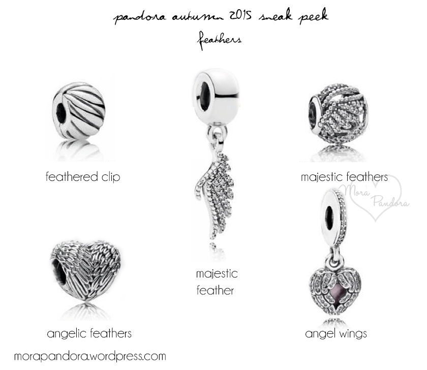 c0f2feda0 pandora autumn fall 2015 I'll have the majestic feather, angelic feathers  and angel wings please :)