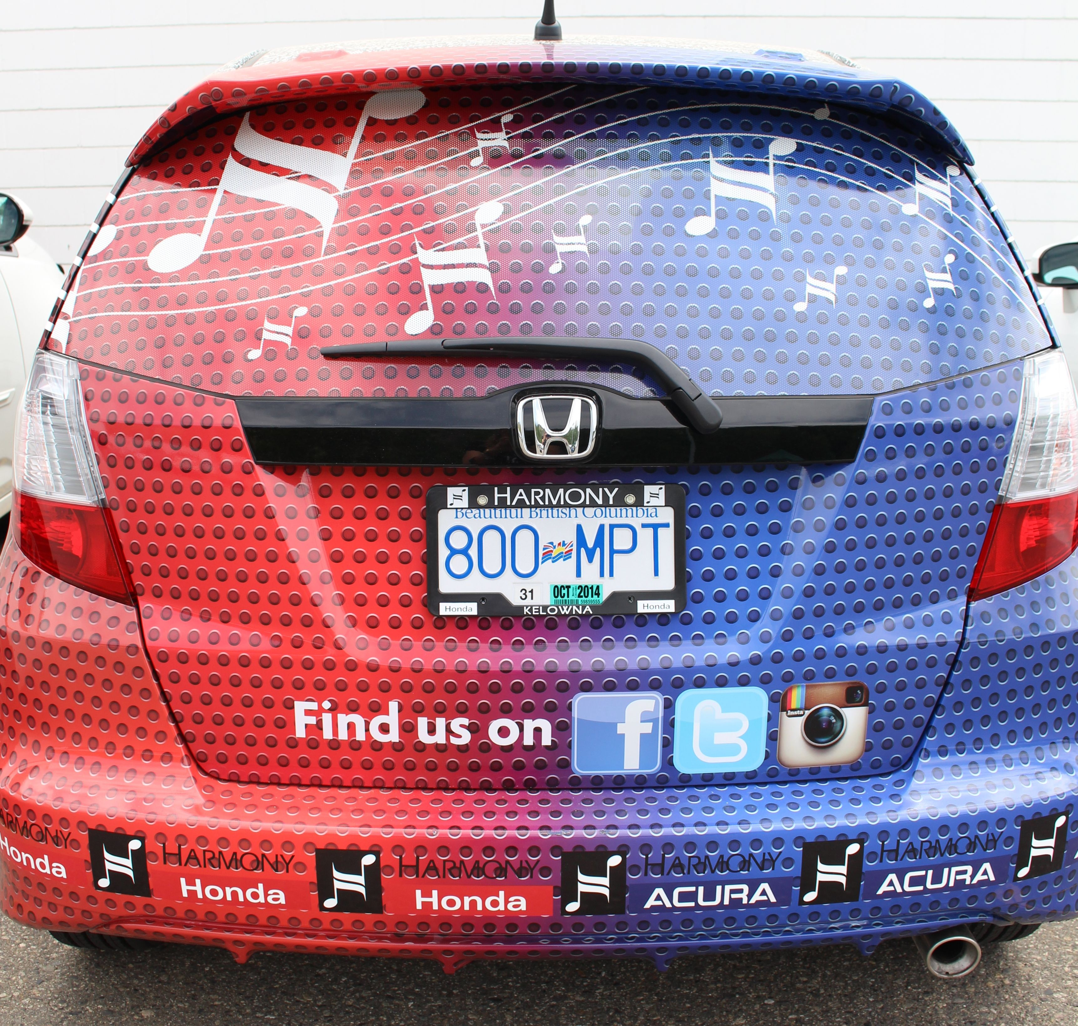 Find us on Social Media and Find our Fit, tell us where and you will be entered to win some great prizes! #honda #fit #findthefit #prizes #win #colorful #follow #nofilter #kelowna