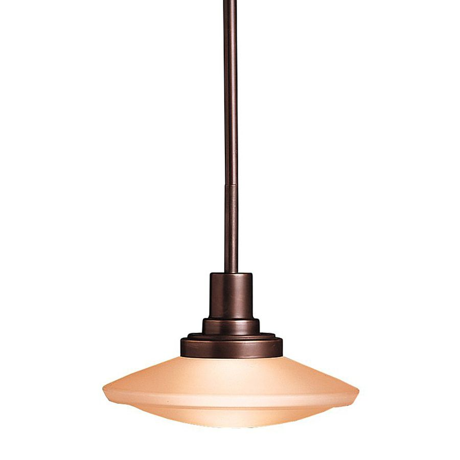 Pendant Lights At Lowes Shop Kichler Lighting Structures 9In W Olde Bronze Mini Pendant