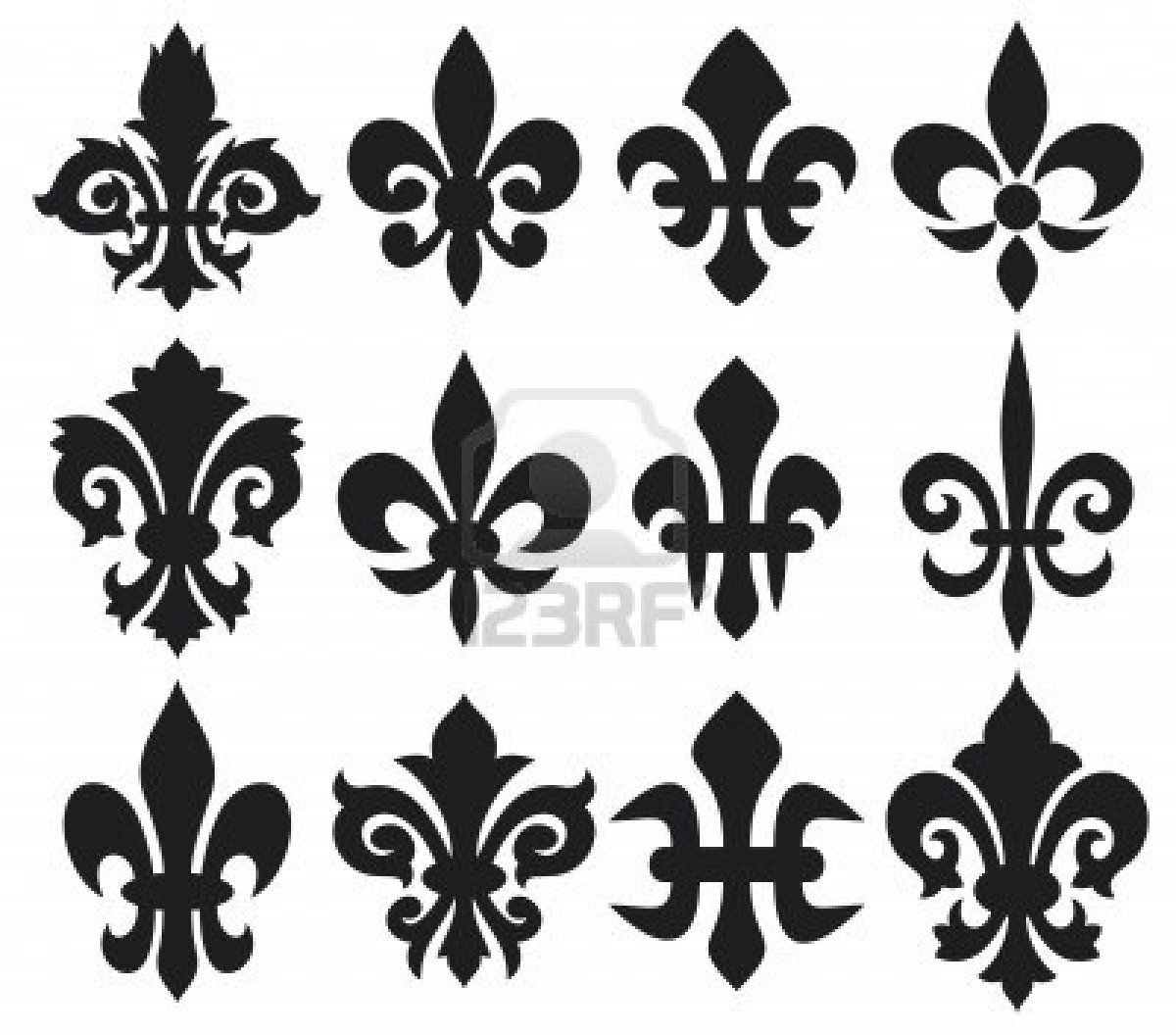 Flour de lis new orleans pinterest stenciling tattoo and lily flower heraldic symbol fleur de lis royal french lily symbols for design and decorate lily flowers collection lily flowers set buycottarizona Images
