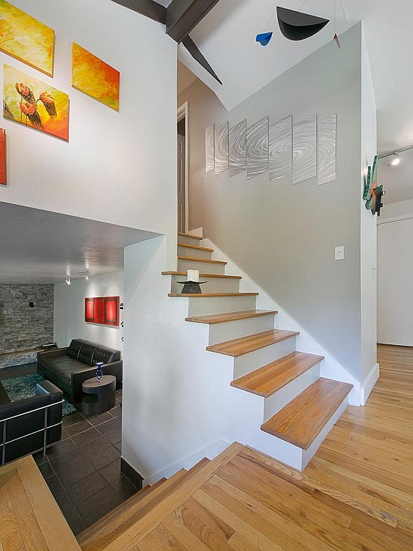 Artistic Tri Level Residence In Denver Tri Level House Basement Layout House Stairs