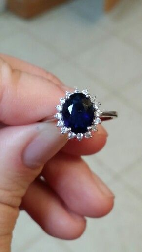 Blue Sapphire Ring Replica Of Princess Diana S Engagement Ring