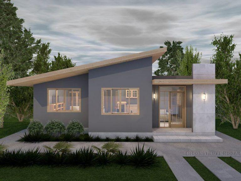 Idea Planos De Casa Pequena De Un Piso Fachadas De Casas Modernas Planos De Casas Pequenas Planos De Casas